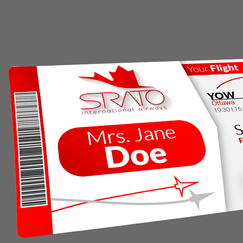 Strato International Boarding Pass